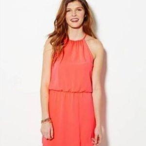 3/$30 AEO Neon Coral Halter Blouson Dress Size M